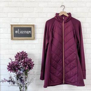 FILA Sport Pinot Plum Long Jacket